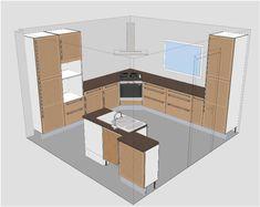Ikea Tidaholm kitchen: Creation of angle box for hood - 27 messages - - Corner Stove, Kitchen Corner, Kitchen Layout, Kitchen Decor, Kitchen Vastu, Small Kitchen Storage, Kitchen Cabinet Design, Diy Cabinets, Home Remodeling