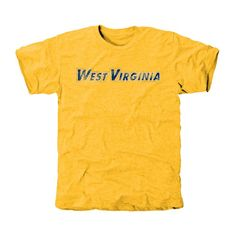 West Virginia Mountaineers Classic Wordmark Tri-Blend T-Shirt - Gold
