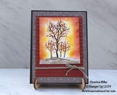 3d Cards, Card Tutorials, Autumn Theme, Crafts To Make, Holiday Cards, Stampin Up, Card Making, Fall, Creative