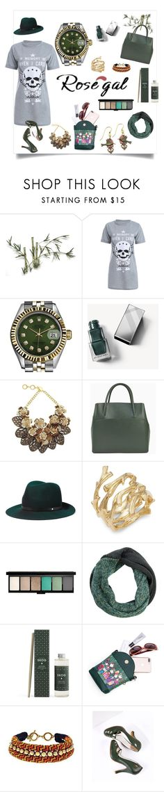"""Untitled #200"" by rozy56 ❤ liked on Polyvore featuring Fox, Rolex, Burberry, Forest of Chintz, rag & bone, Michael Aram, Silver Forest and vintage"