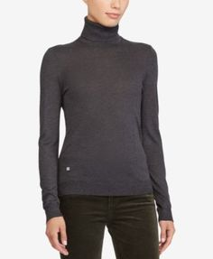 Lauren Ralph Lauren Slim-Fit Turtleneck - Deep Forest Green XXL