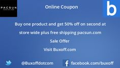 Latest pacsun Coupon on Buxoff Visit to know more