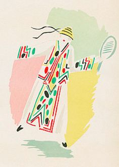 Fashion illustration by Sonia Delaunay, 1923-24.