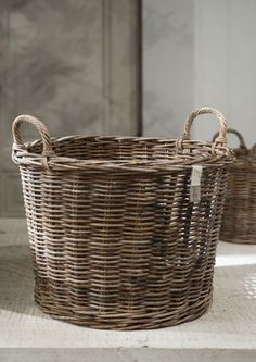 laundry basket. lined with yellow fabric and trimmed in accent colors