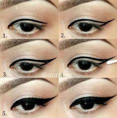 Winged eyeliner 101