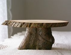This is an absolutely fabulous natural wood cake stand designed and made by hensindaisies. Discovered on etsy, I Absolutely love the look. Rustic Cake Stands, Wooden Cake Stands, Wedding Cake Stands, Wood Cake, Cake Holder, Tree Trunks, Cake Plates, Decoration, Natural Wood