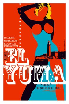"""7 Directors chronicle one day in Havana in this anthology film, Days in Havana"""". Here's the poster for Benicio Del Toro's contribution, El Yuma. Vintage Movies, Vintage Posters, Art Posters, Cuba Pictures, Anthology Film, Cuban Culture, Wordpress, Cuban Art, Minimal Movie Posters"""