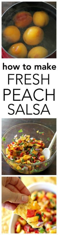How to Make Fresh Peach Salsa!