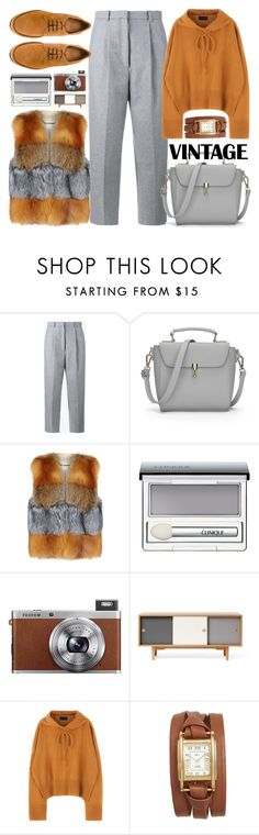 """Fur Vest  Fur Gilet"" by jiabao-krohn ❤ liked on Polyvore featuring Acne Studios, MICHAEL Michael Kors, Clinique, Fuji, Zweed, La Mer, Castañer and sundance"