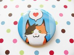 Calico Cat Pin for Charity by SliceofOrange on Etsy, $3.00