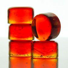 Lindshammar - red-orange architectural roundel - vintage swedish glass - c.1970s