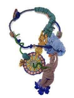 Joyce J. Scott : peyote-stitched glass beads, thread, wire