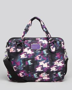 Marc by Marc Jacobs Pretty Nylon Computer Commuter Case Laptop Case, Tech Accessories, Marc Jacobs, Pretty, Gifts, Cases, Printed, Black, Women