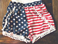 4th of July Pom Shorts! #4THOFJULY #FASHION #SHORTS