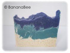 Die Selbstrührerei: Schichtseife Banana Bee Hyacinth Soap Bar