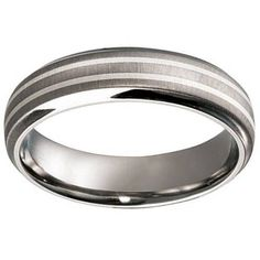 Titanium with Double Silver Inlay Wedding Ring Wedding Rings, Engagement Rings, Silver, Jewelry, Enagement Rings, Jewlery, Jewerly, Schmuck, Jewels