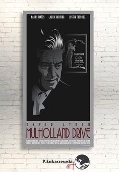 MULHOLLAND DRIVE David Lynch movie poster / by PLukaszewskiArt