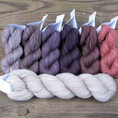 This set contains all the yarn you'll need to create Melanie Berg's On the Spice Market shawl. It includes one six-color German Waterways Gradient Set and one full 400-yard skein of Yummy 2-Ply in the
