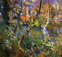 "Art Pics Channel on Twitter: ""Waters of Moguda, 1917 (oil on canvas) - Joaquin Mir Trinxet https://t.co/N1Qw0Y1L3r"""