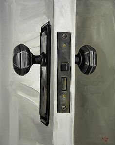 Vintage Doorknob by Christopher Stott--I need to make a painting of my glass doorknobs.