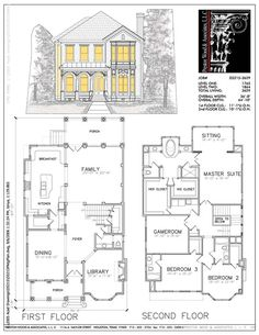 House plans two story narrow dream homes 38 Trendy Ideas Two Story House Plans, Vintage House Plans, Two Story Homes, Dream House Plans, Modern House Plans, House Floor Plans, Home Building Design, Home Design Plans, Building A House