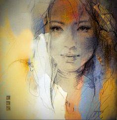Portrait Paintings by Anna Razumovskaya Abstract Portrait, Watercolor Portraits, Portrait Art, Watercolor Art, Portrait Paintings, Art Paintings, Oil Painting For Sale, Painting & Drawing, Painting Abstract
