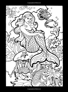 Printable Realistic Mermaid Coloring Pages For Preschoolers