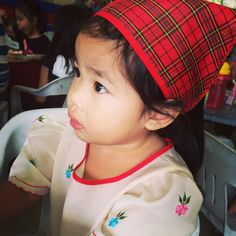 My Maria wearing Filipiniana My Maria, Filipiniana, Pinoy, Face, Kids, How To Wear, Style, Stylus, For Kids