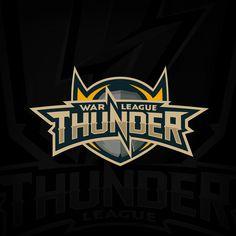 """War thunder league"" world online tournament logo on behance lightning logo, video game Team Logo Design, Web Design, Brand Design, Graphic Design, Pet Logo, Monogram Logo, Lightning Logo, Esports Logo, War Thunder"