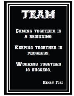 Totally Teamwork Inspirational Print