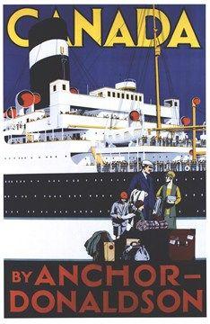 Vintage ocean liner poster