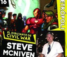 ¡Steve McNive, el ilustrador de Civil War estará en Metrópoli Cómic Con!