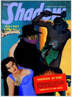 from $7.99 - The Shadow & Jane Russell 8x10 Color Remake Of Shadow Pulp Magazine Cover