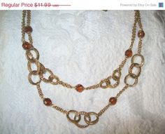 JULY 4th SALE liz claiborne LC necklace Lc bead by vintagebyrudi