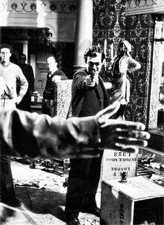 Stanley Kubrick on the set of Lolita, (1962)