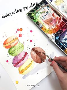 Learn painting with watercolor. Fun and easy to follow watercolor class by Elena Fay, watercolor tutorial