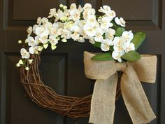 summer wreath burlap bow storm door wreaths for by aniamelisa, $75.00