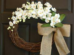summer wreath burlap bow storm door wreaths for by aniamelisa, $75.00
