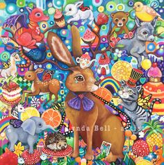 The Hare's Tea-Party fine art print by Frecklepop on Etsy