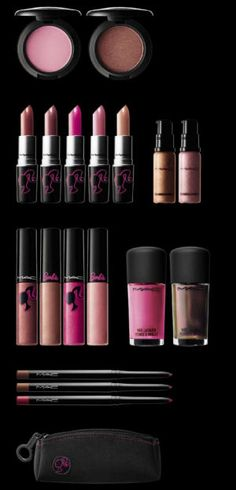 Barbie make-up by MAC. I LOVE that collection. My bank account didn't like it, but who cares. *yells YOLO*
