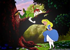 Alice In Wonderland and Peter Pan