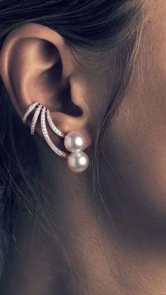 Ear Jewelry, High Jewelry, Diamond Jewelry, Gold Jewelry, Jewelry Accessories, Jewelry Design, Women Jewelry, Fashion Earrings, Fashion Jewelry