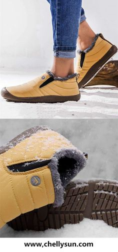 61db429b7d13 Free Shipping! 50% OFF Waterproof Fur Slip On Snow Boots. Shop Now!  boots   waterproof  snowboot  shoes  warmers  winter  winterfashion  freeshipping   women ...