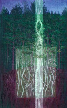 """Joan Baxter (UK), """"Hallaig,"""" 63"""" x 39.5"""" woven tapestry, ATB 8"""