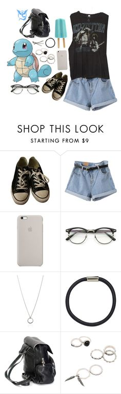 """Living the Dream (Pokemon Go)"" by septembrie ❤ liked on Polyvore featuring Converse, Brandy Melville, ZeroUV, FOSSIL, Hershesons, BOBBY, Valor, Pokemon, squirtle and PokemonGO"