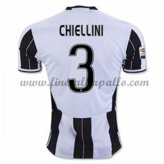 Jalkapallo Pelipaidat Juventus 2016-17 Chiellini 3 Kotipaita