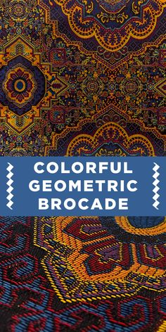 Colorful Geometric Polyester Brocade