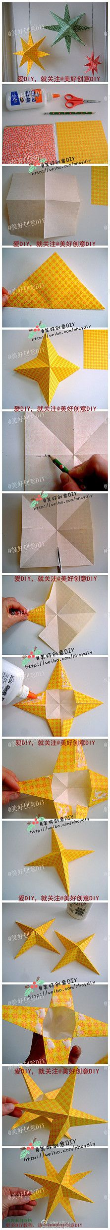 Star origami-maybe do some in the opalescence or holographic paper. Diy Projects To Try, Crafts To Do, Craft Projects, Crafts For Kids, Diy Crafts, Recycling Projects, Origami Paper, Diy Paper, Paper Crafting