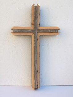 Layered Aged Barnwood Wall Cross by DITR on Etsy, $40.00
