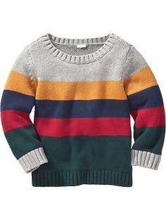 Stripe Sweater for Baby Product Image Baby Boy Knitting Patterns, Crochet Baby Dress Pattern, Knitting For Kids, Baby Boy Sweater, Knit Baby Sweaters, Boys Sweaters, Crochet For Boys, Sweater Design, Kids Fashion